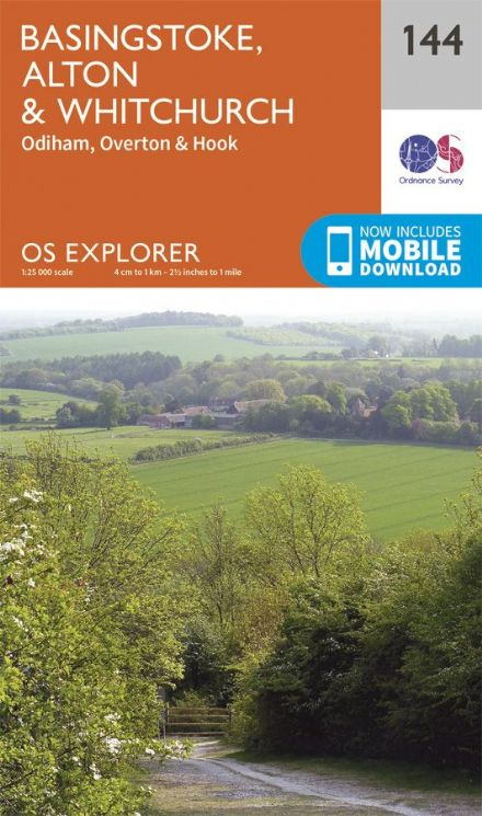 OS Explorer 144 - Basingstoke, Alton & Whitchurch, Odiham, Overton & Hook